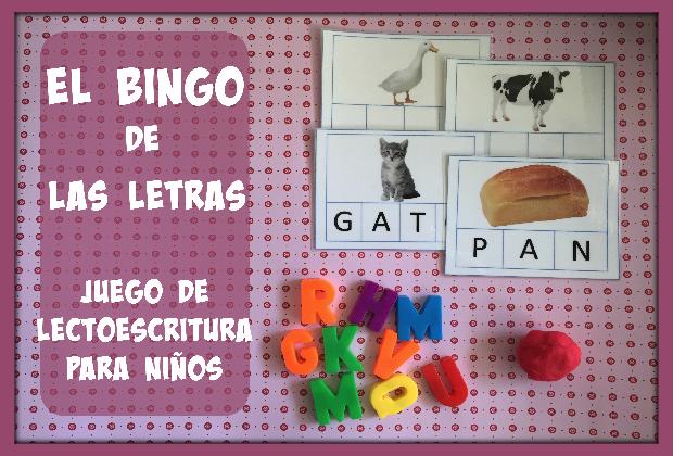Juego de lectoescritura el bingo de las letras