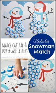 Alphabet Snowman Match